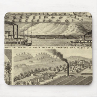 Residence and saw mill of Susan Harpold Mouse Mat