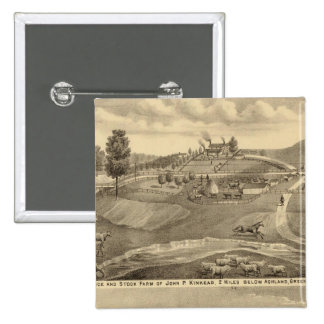 Residence and stock farm 15 cm square badge