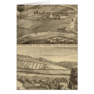 Residence and stock farm greeting card