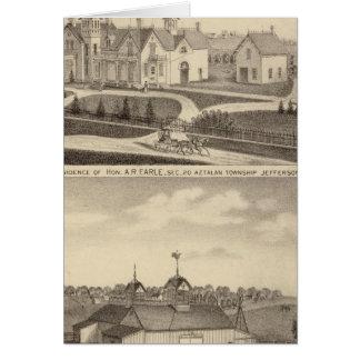 Residence, barn & outbuildings of AR Earle Card
