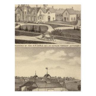 Residence, barn & outbuildings of AR Earle Postcard