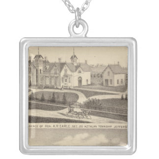 Residence, barn & outbuildings of AR Earle Silver Plated Necklace