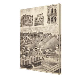 Residence, Lumberyard and Mills, Minnesota Gallery Wrapped Canvas
