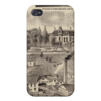 Residence, Lumberyard and Mills, Minnesota iPhone 4/4S Case