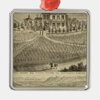 Residence of Andrew Lindsey Glenfield Christmas Ornament
