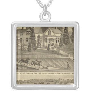 Residence of AP Howard Hancock Silver Plated Necklace