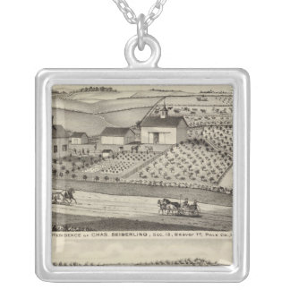 Residence of C Seiberling Silver Plated Necklace