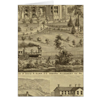Residence of David R Kerr Card