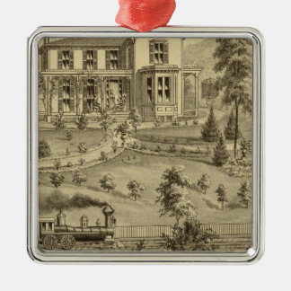 Residence of David R Kerr Christmas Ornament