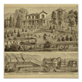 Residence of David R Kerr Print