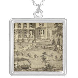 Residence of David R Kerr Silver Plated Necklace