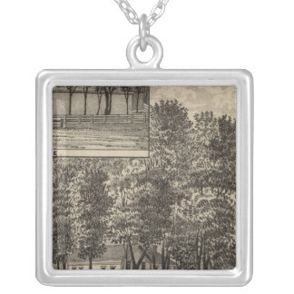 Residence of DB Williams, Edgerton, Kansas Silver Plated Necklace