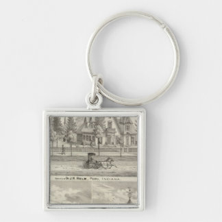 Residence of Dr JH Helm, Peru Key Ring