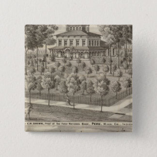 Residence of EH Shirk 15 Cm Square Badge