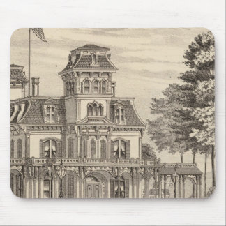 Residence of Genl HH Baxter in Rutland Vermont Mouse Mat