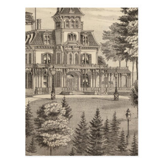 Residence of Genl HH Baxter in Rutland Vermont Postcard