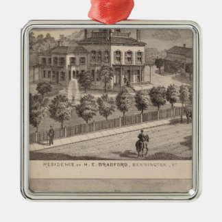 Residence of HE Bradford and HE Bradford and Christmas Ornament