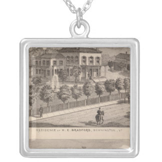 Residence of HE Bradford and HE Bradford and Silver Plated Necklace