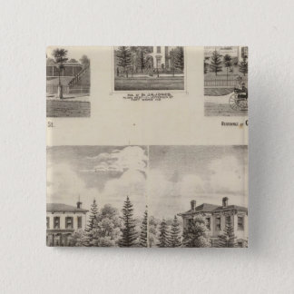 Residence of Henry Baker and others 15 Cm Square Badge