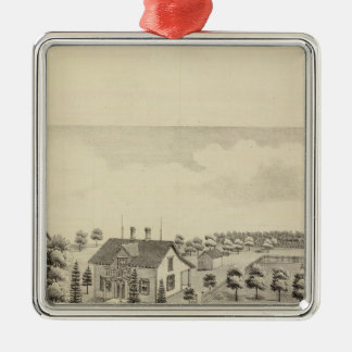 Residence of Isreal Cox, Ward Township Christmas Ornament