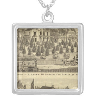 Residence of J Sharp McDonald Sewickley Silver Plated Necklace