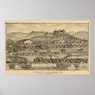 Residence of Jacob Markley Print