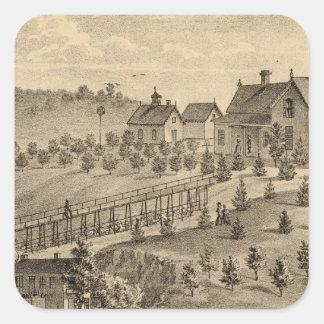 Residence of Jacob Markley Square Sticker