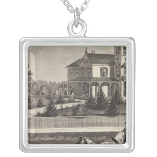 Residence of James G Gowdy, Tom's River, NJ Silver Plated Necklace