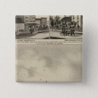 Residence of JD Hill, Kansas 15 Cm Square Badge