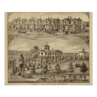 Residence of Jehu P Smith, Sewickley Posters