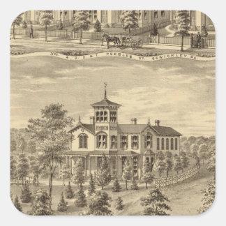 Residence of Jehu P Smith, Sewickley Square Sticker