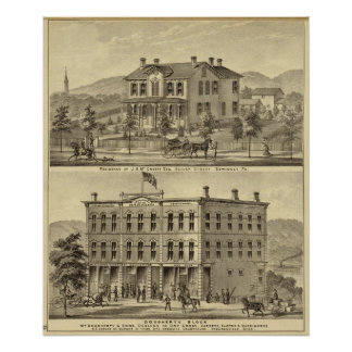 Residence of JH McCreery Sewickly Poster