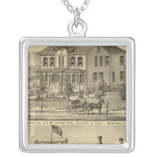 Residence of JH McCreery Sewickly Silver Plated Necklace