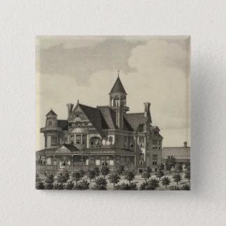 Residence of John D Knox, Topeka, Kansas 15 Cm Square Badge