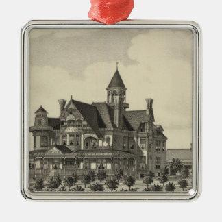 Residence of John D Knox, Topeka, Kansas Christmas Ornament