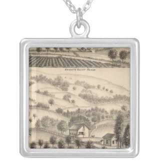 Residence of Joseph Alexander, Mendocino Silver Plated Necklace