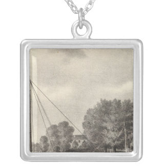 Residence of Joseph Francis, Tom's River, NJ Silver Plated Necklace