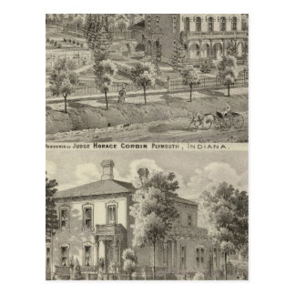 Residence of Judge Horace Corbin Postcard