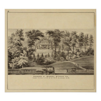 Residence of Marshall McDonald Print