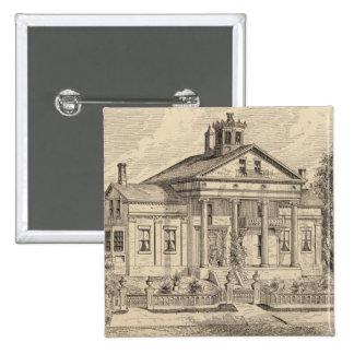Residence of Mrs EE Marsh, Brandon in Vermont 15 Cm Square Badge