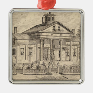 Residence of Mrs EE Marsh, Brandon in Vermont Christmas Ornament