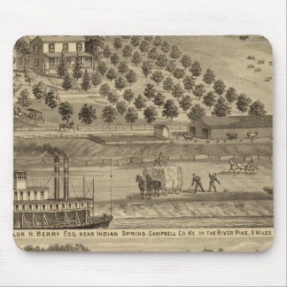 Residence of Taylor H Berry Mouse Mat
