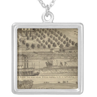 Residence of Taylor H Berry Silver Plated Necklace