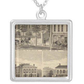Residence of Thomas Hornbrook Silver Plated Necklace