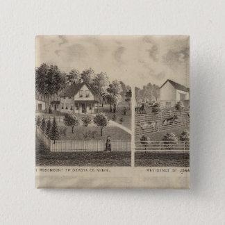 Residences and Barns, Minnesota 15 Cm Square Badge