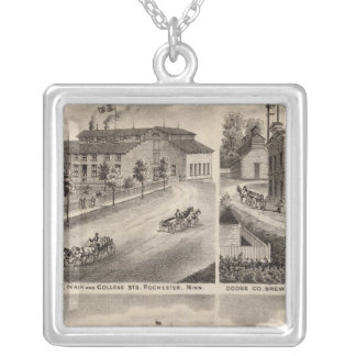 Residences and Breweries in Rochester, Minnesota Silver Plated Necklace