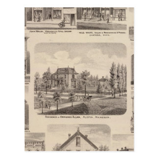 Residences and Businesses in Austin, Minnesota Postcard