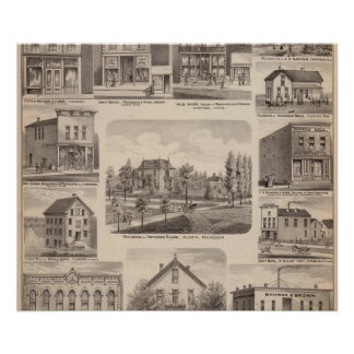Residences and Businesses in Austin, Minnesota Poster