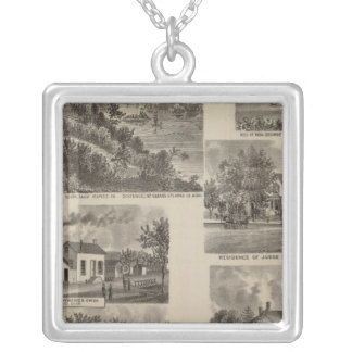 Residences and Factory in Minnesota Silver Plated Necklace