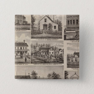 Residences and Farm Buildings, Owatonna, Minnesota 15 Cm Square Badge